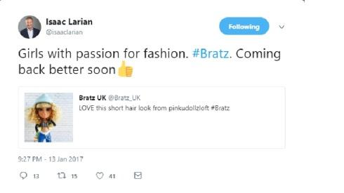 "MGA's CEO, Isaac Larian, Said, ""Bratz Are Coming Back the"